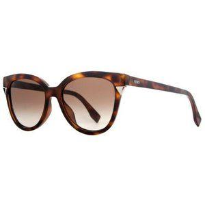 Fendi FF0125 F/S women's havana cat-eye sunglasses
